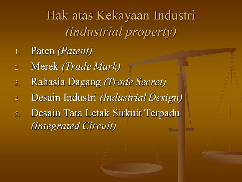 Hak atas Kekayaan Industri (industrial property)