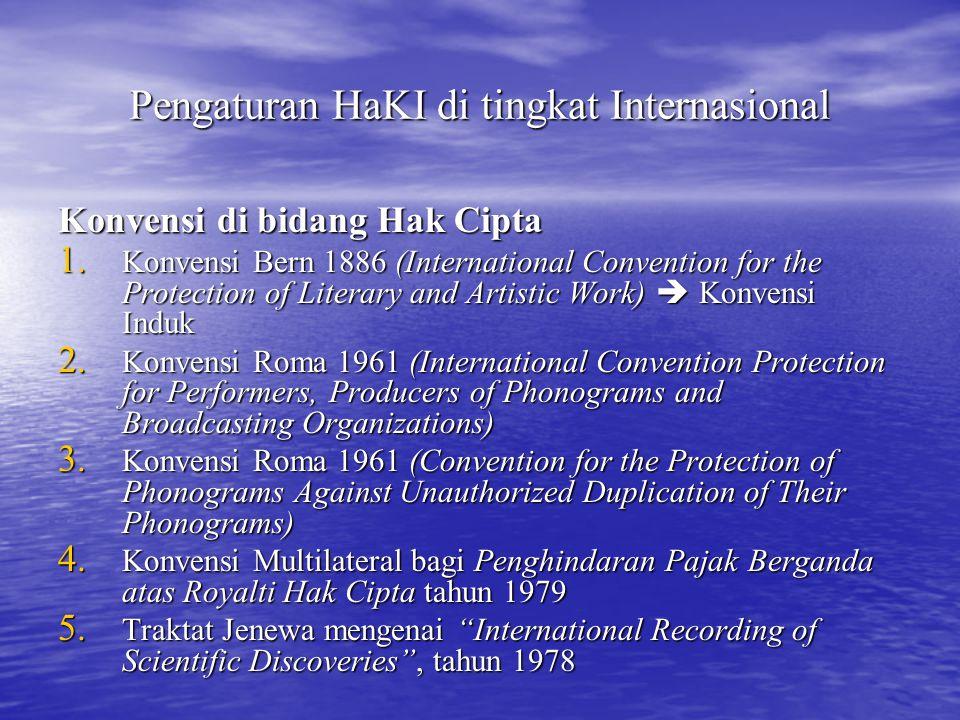 Pengaturan HaKI di tingkat Internasional