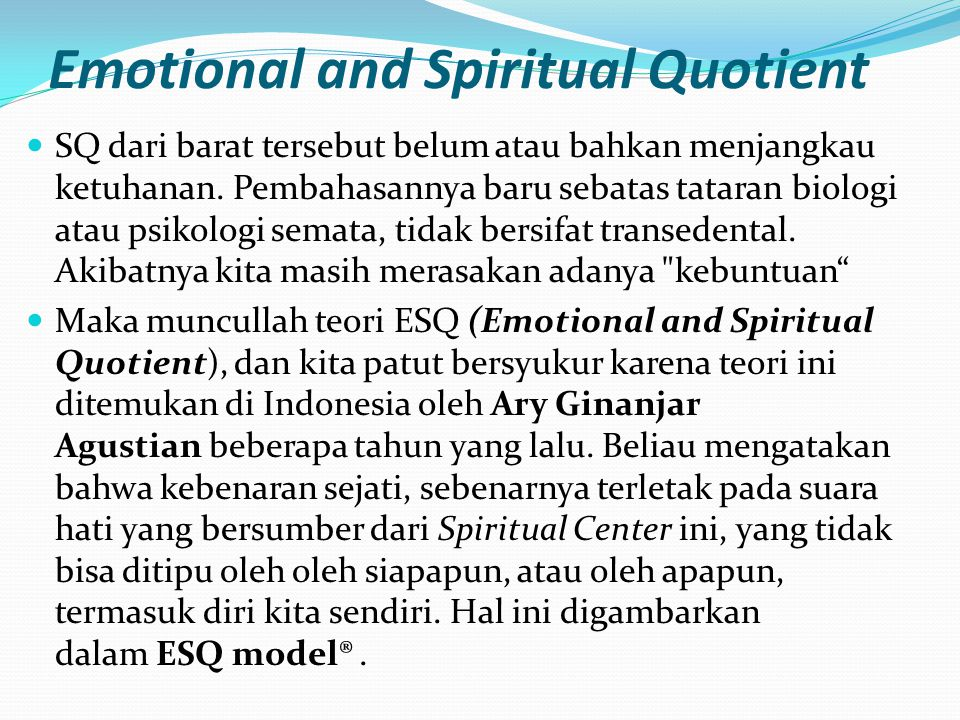 Emotional and Spiritual Quotient
