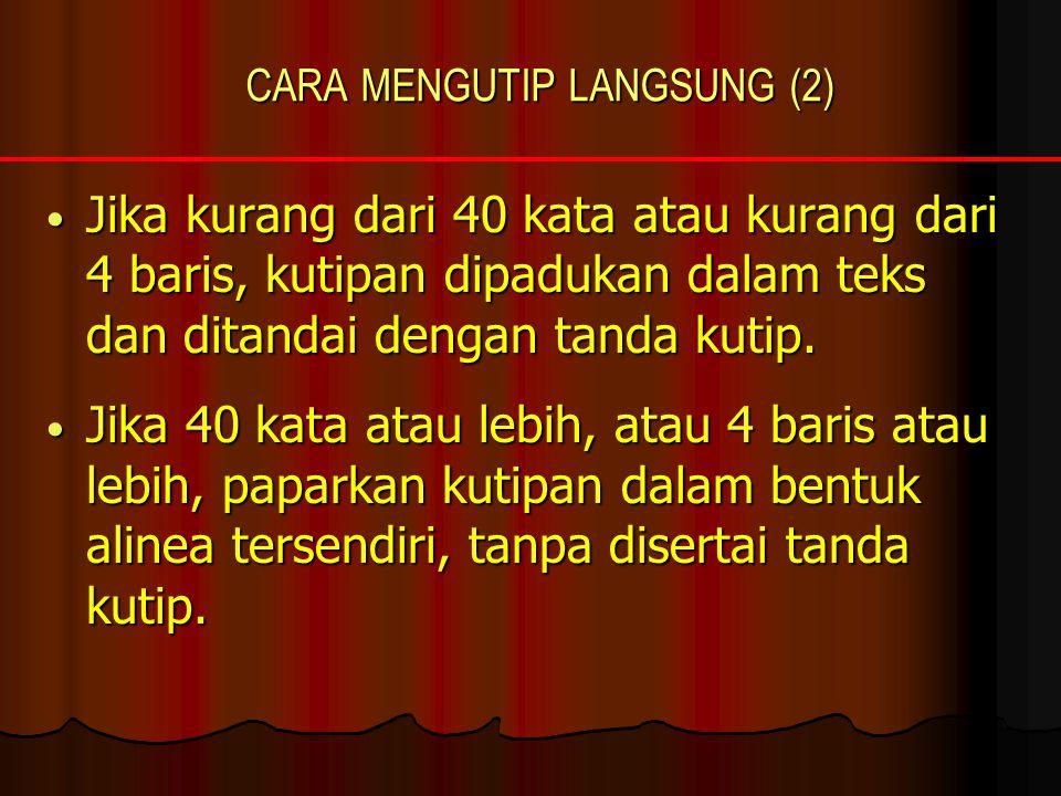 CARA MENGUTIP LANGSUNG (2)