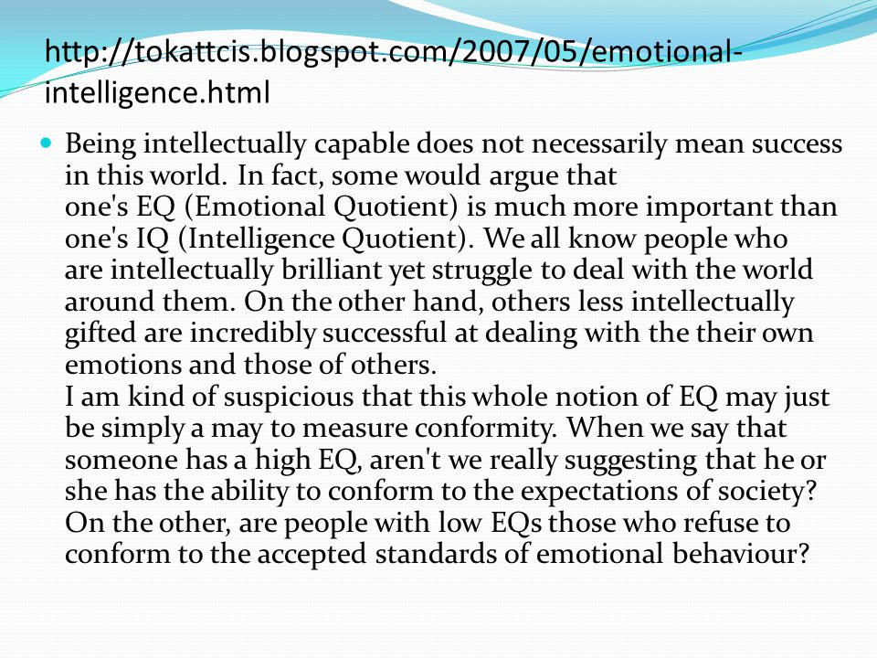 http://tokattcis.blogspot.com/2007/05/emotional-intelligence.html