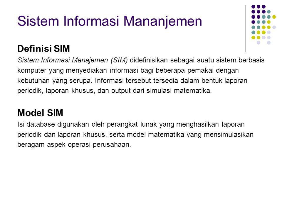 Sistem Informasi Mananjemen