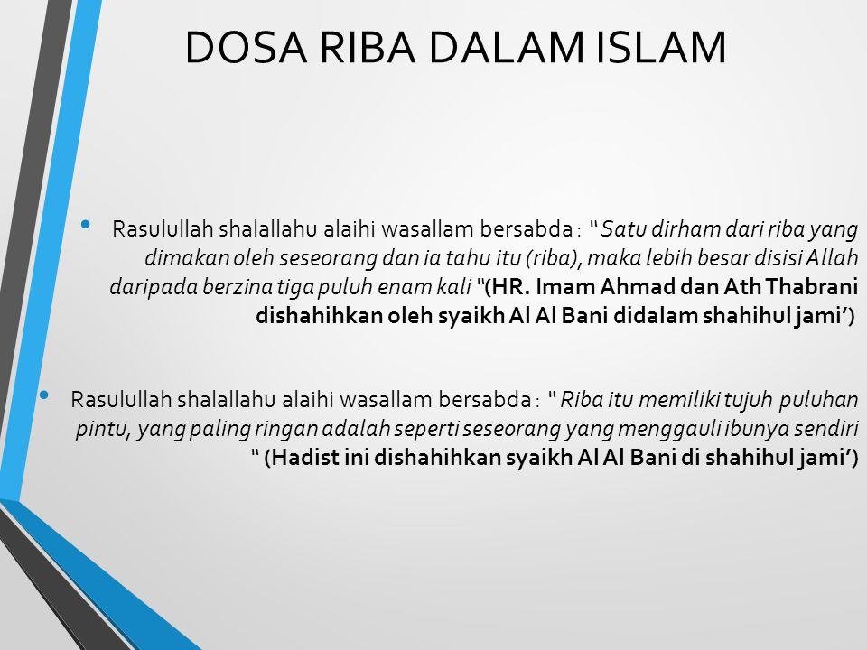 DOSA RIBA DALAM ISLAM