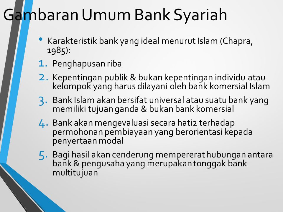 Gambaran Umum Bank Syariah