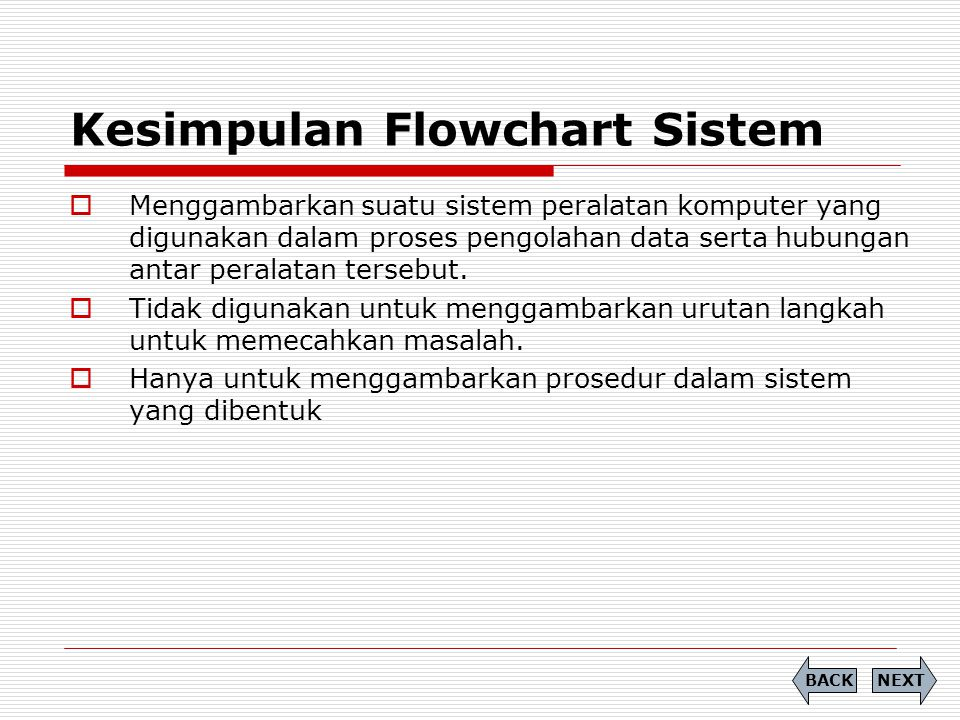 Kesimpulan Flowchart Sistem