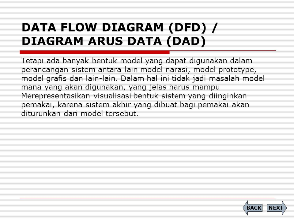DATA FLOW DIAGRAM (DFD) / DIAGRAM ARUS DATA (DAD)