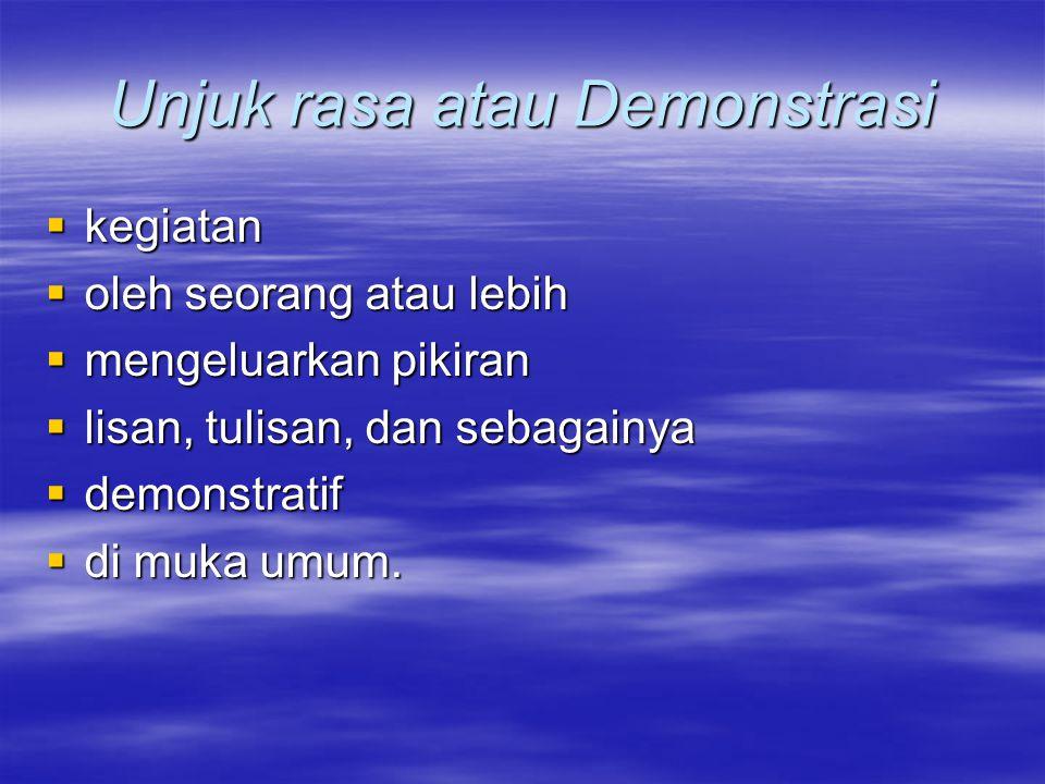 Unjuk rasa atau Demonstrasi