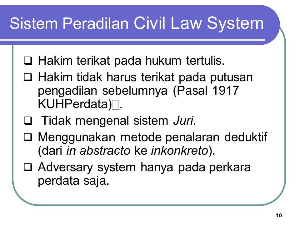 Sistem Peradilan Civil Law System