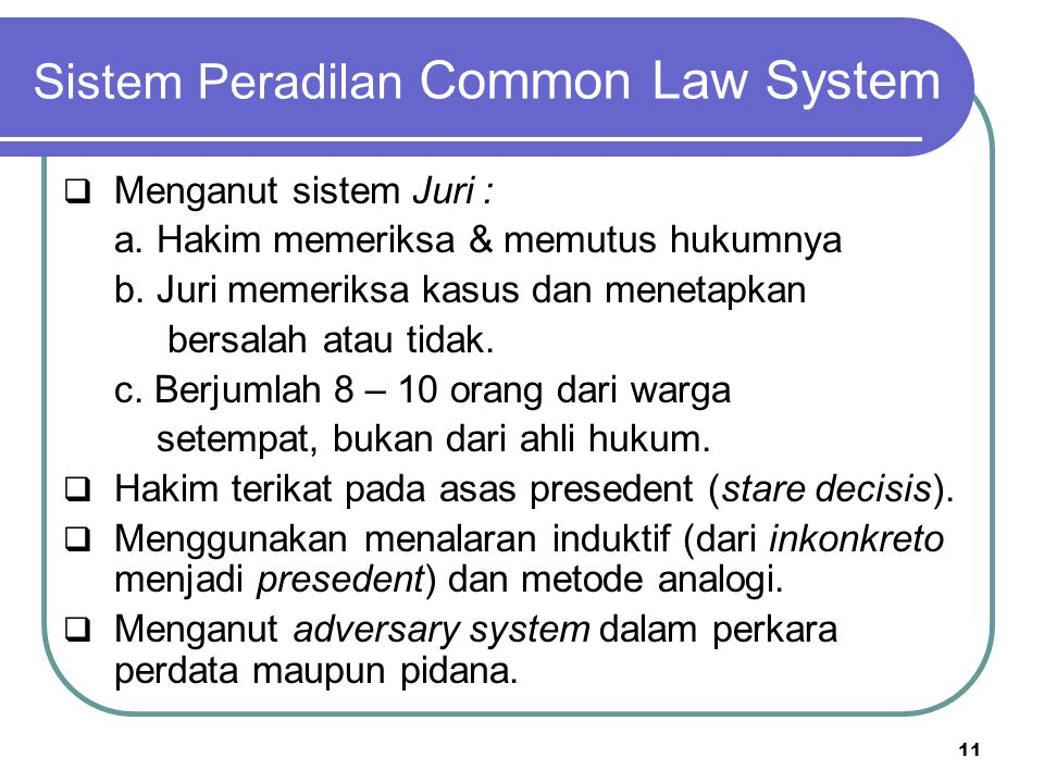 Sistem Peradilan Common Law System