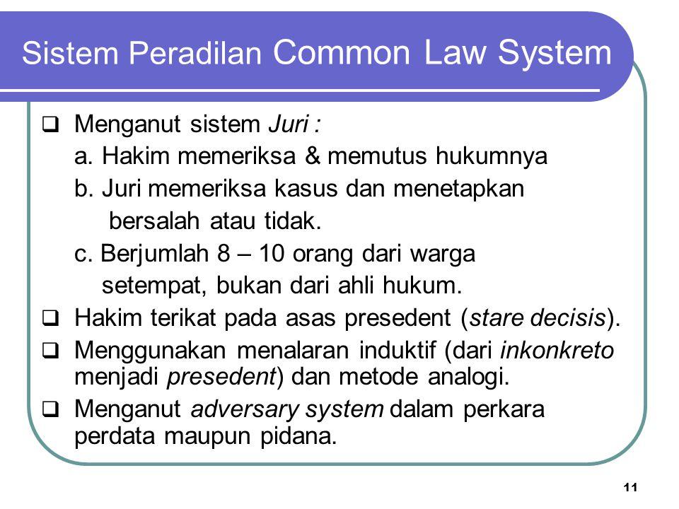 Sistem Peradilan Common Law System