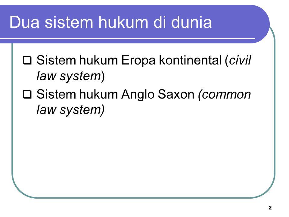 Dua sistem hukum di dunia