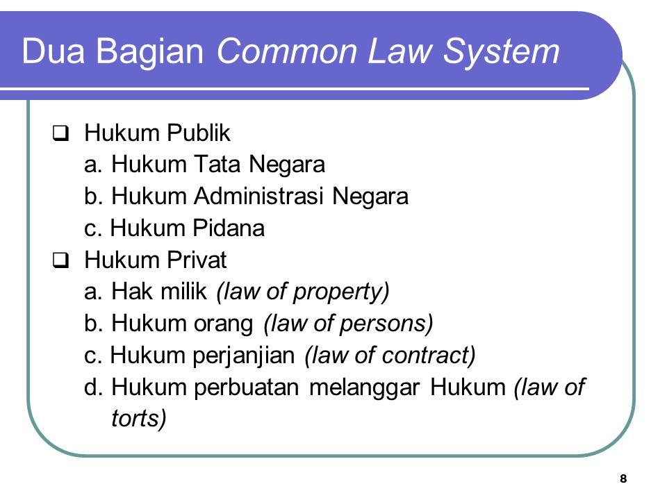 Dua Bagian Common Law System