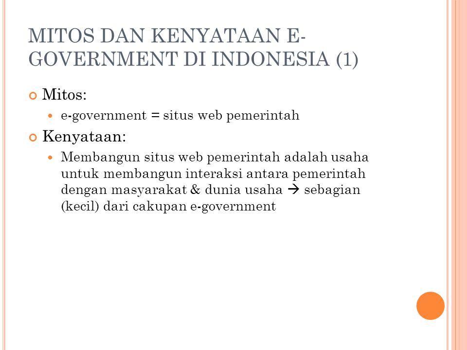 MITOS DAN KENYATAAN E-GOVERNMENT DI INDONESIA (1)
