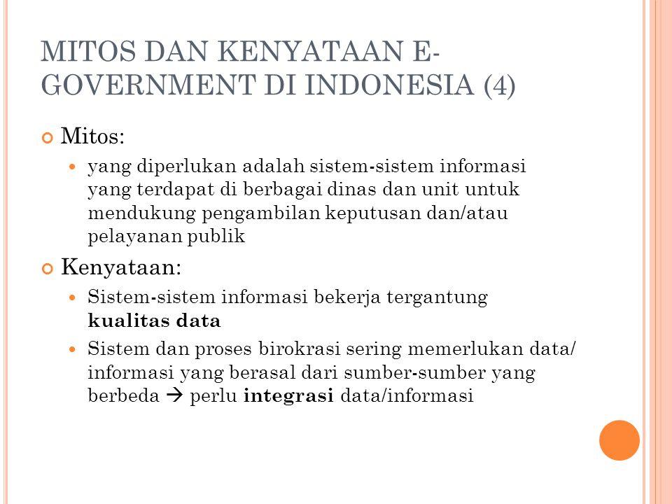 MITOS DAN KENYATAAN E-GOVERNMENT DI INDONESIA (4)