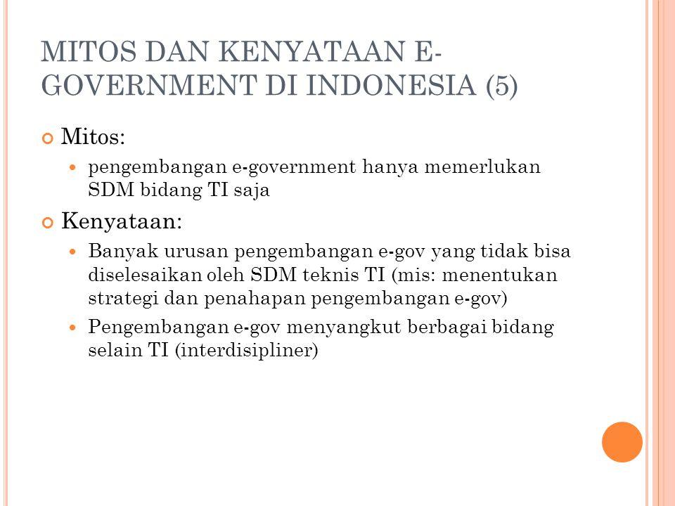 MITOS DAN KENYATAAN E-GOVERNMENT DI INDONESIA (5)