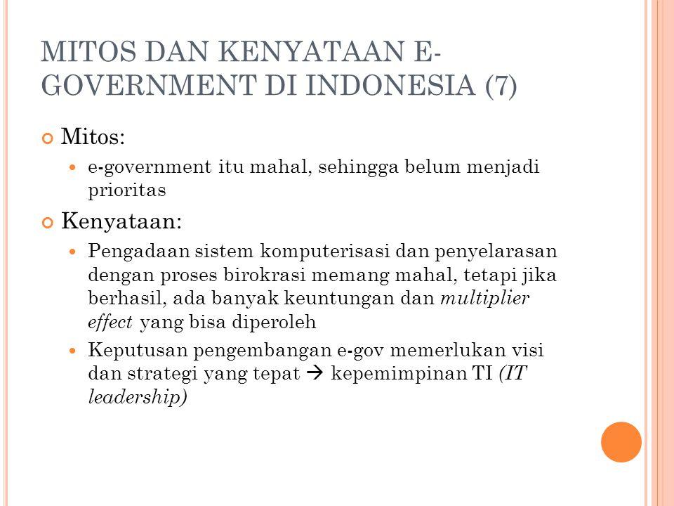 MITOS DAN KENYATAAN E-GOVERNMENT DI INDONESIA (7)