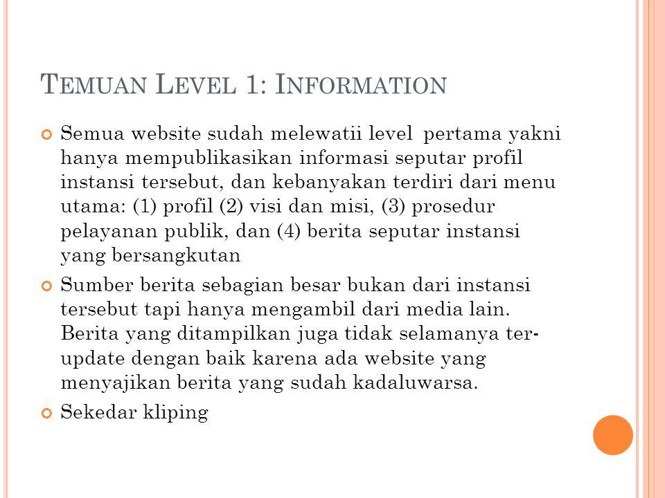 Temuan Level 1: Information