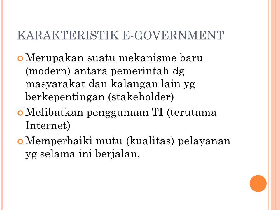 KARAKTERISTIK E-GOVERNMENT