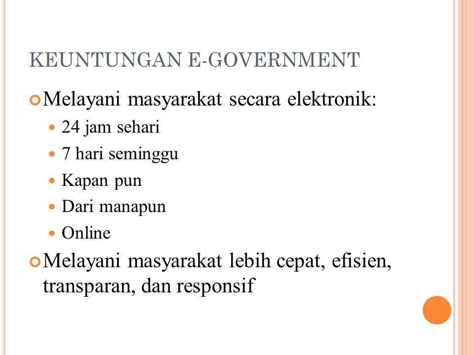 KEUNTUNGAN E-GOVERNMENT