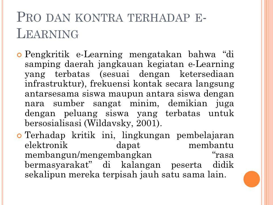 Pro dan kontra terhadap e-Learning