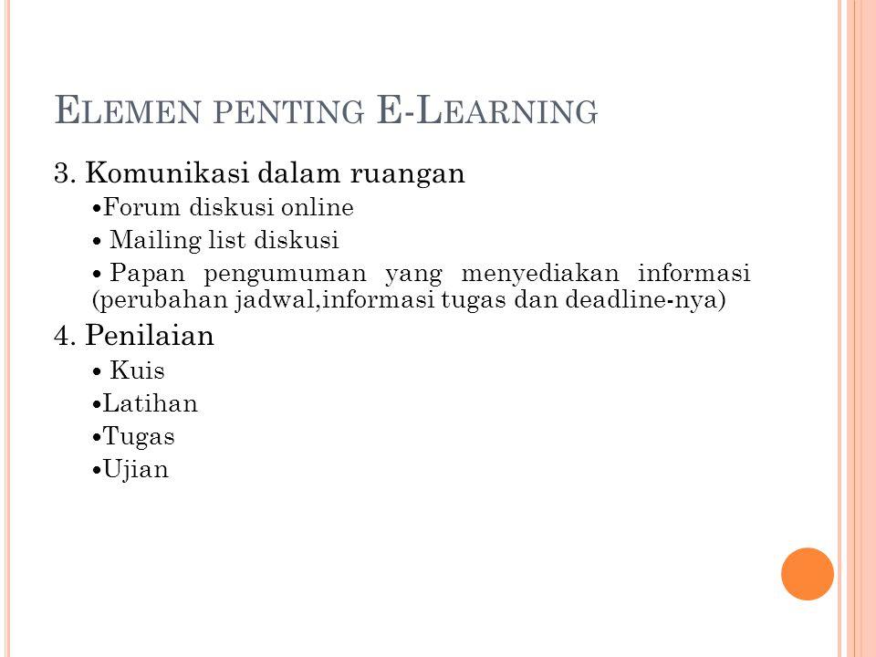 Elemen penting E-Learning