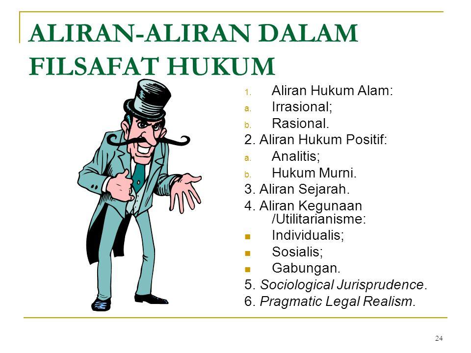 ALIRAN-ALIRAN DALAM FILSAFAT HUKUM