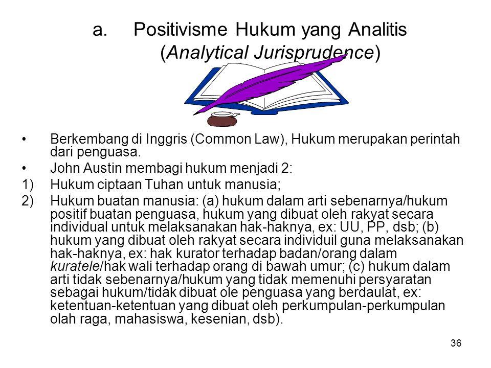Positivisme Hukum yang Analitis (Analytical Jurisprudence)