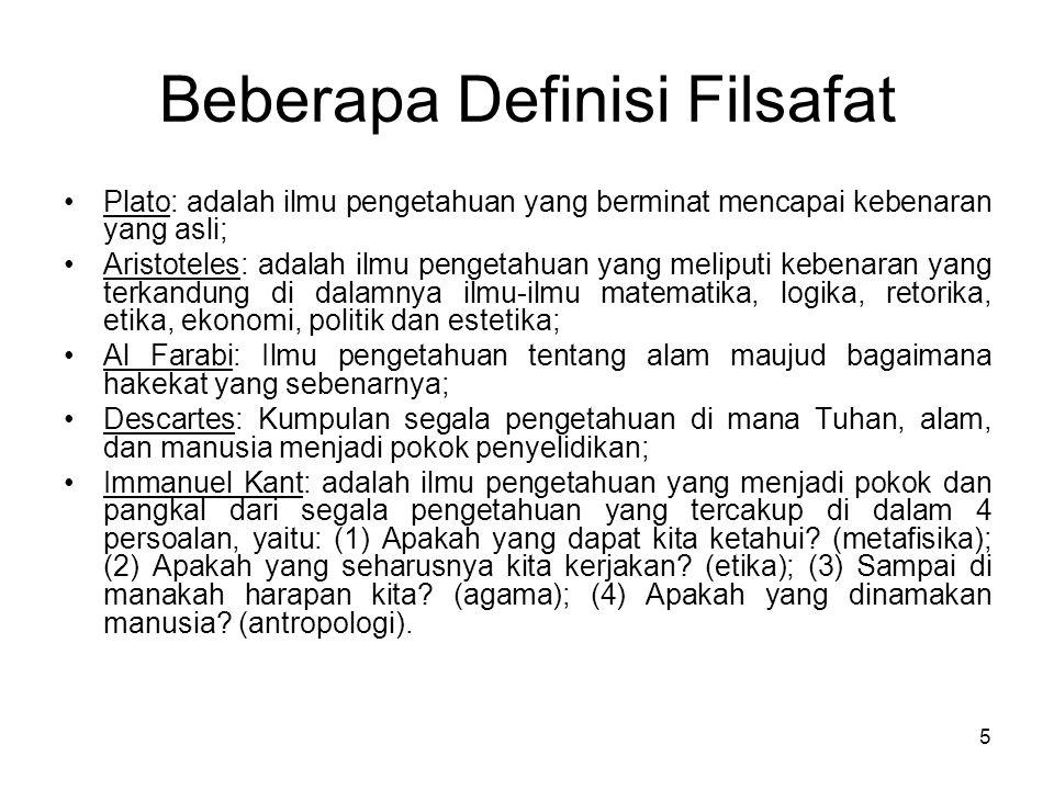 Beberapa Definisi Filsafat