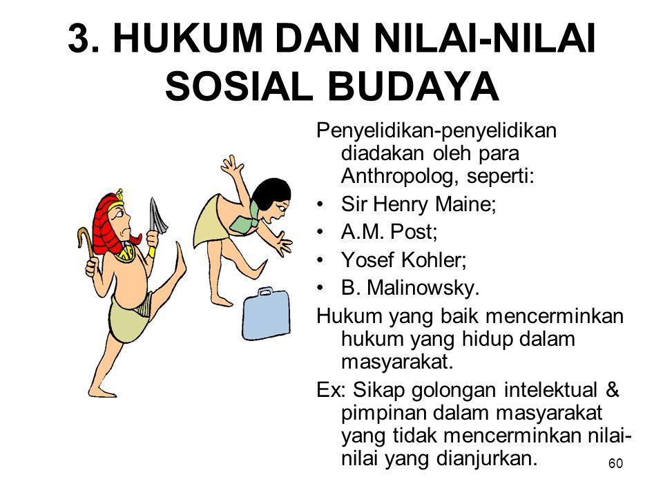 3. HUKUM DAN NILAI-NILAI SOSIAL BUDAYA