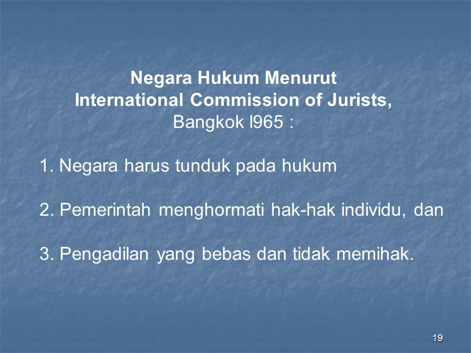 International Commission of Jurists,
