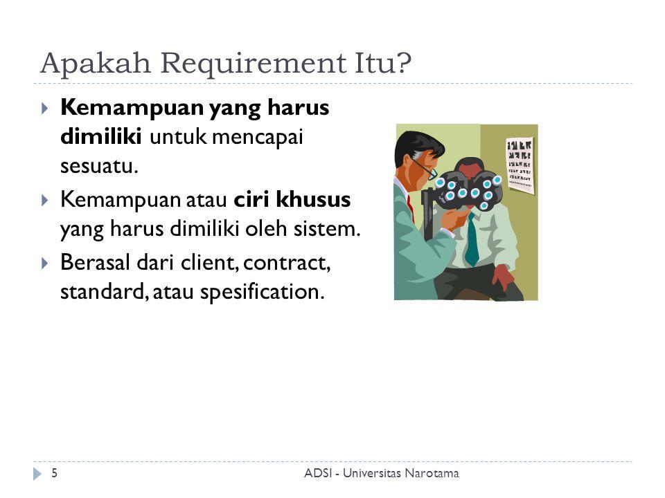 Apakah Requirement Itu