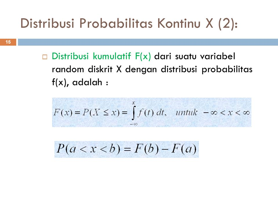 Distribusi Probabilitas Kontinu X (2):