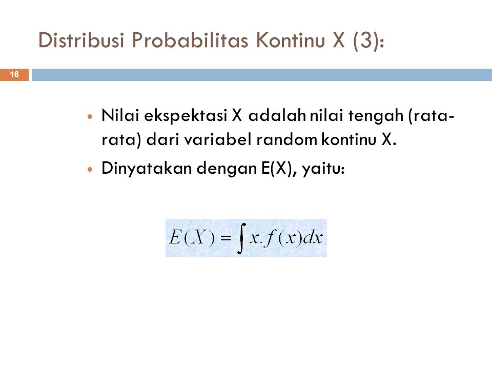 Distribusi Probabilitas Kontinu X (3):