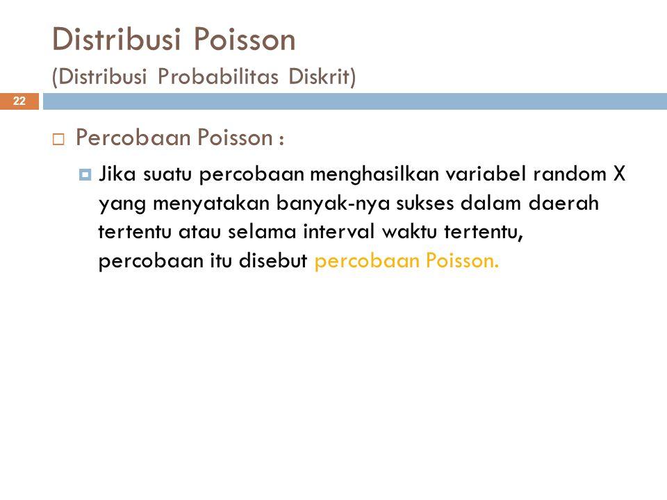 Distribusi Poisson (Distribusi Probabilitas Diskrit)