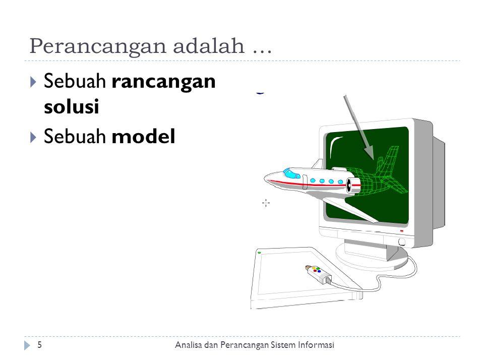 Sebuah rancangan solusi Sebuah model
