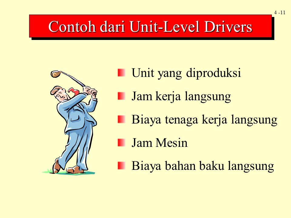 Contoh dari Unit-Level Drivers