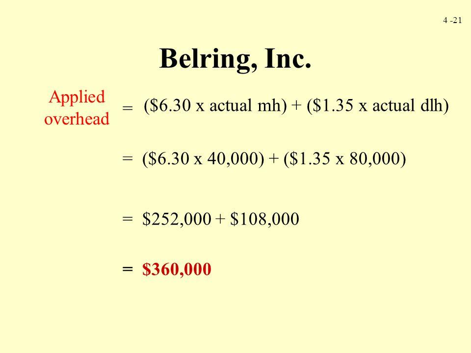 ($6.30 x actual mh) + ($1.35 x actual dlh)
