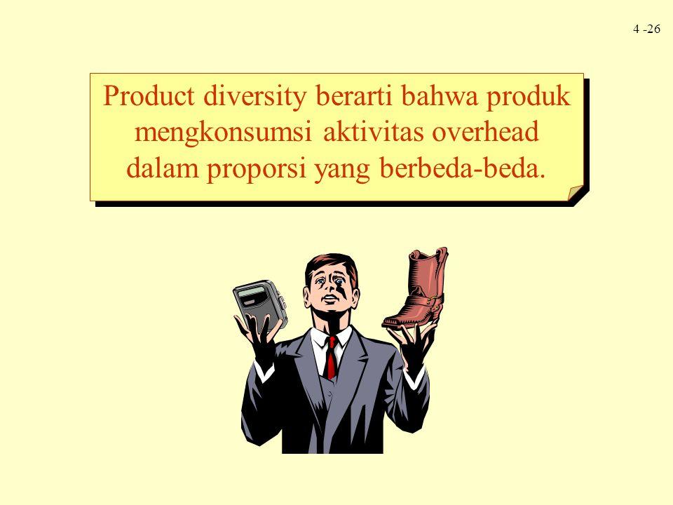 Product diversity berarti bahwa produk mengkonsumsi aktivitas overhead dalam proporsi yang berbeda-beda.