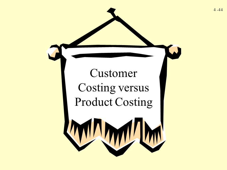 Customer Costing versus Product Costing