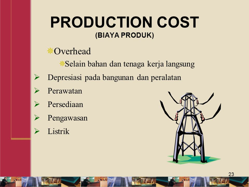 PRODUCTION COST (BIAYA PRODUK)