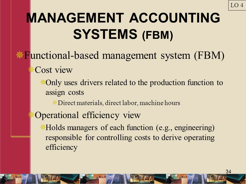 MANAGEMENT ACCOUNTING SYSTEMS (FBM)