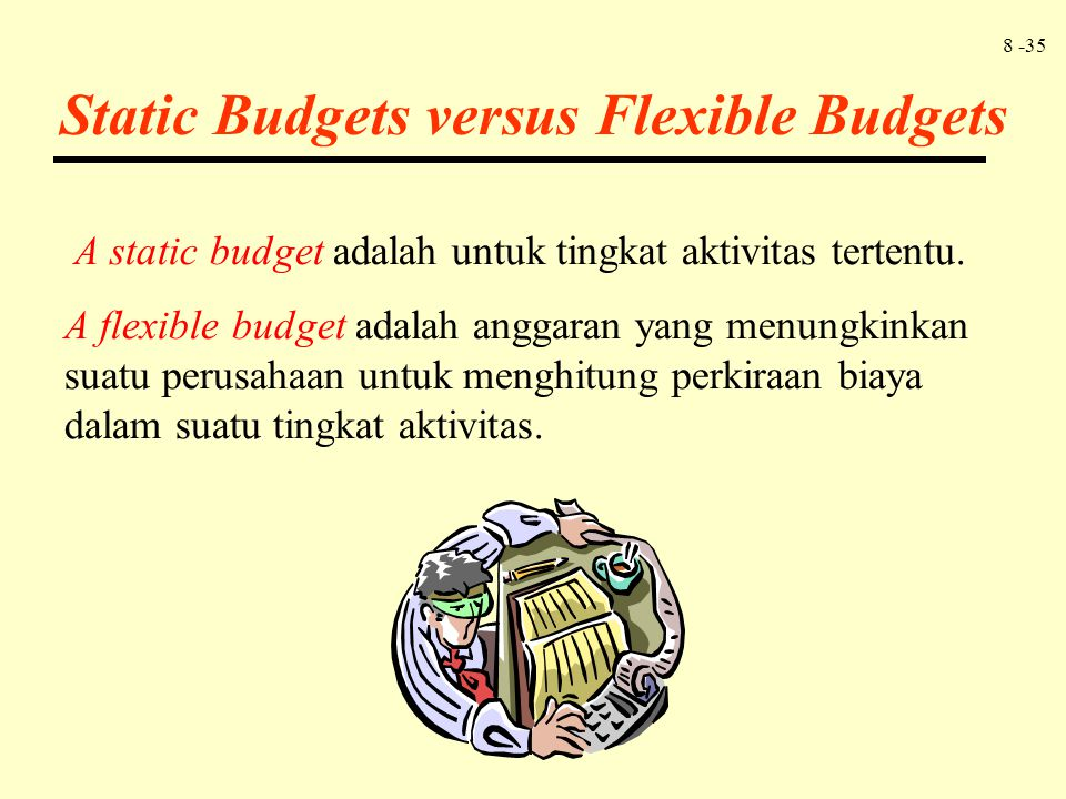 Static Budgets versus Flexible Budgets