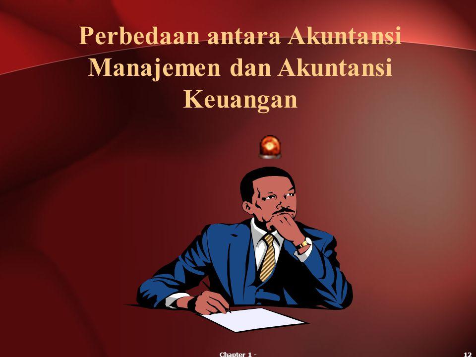 Perbedaan antara Akuntansi Manajemen dan Akuntansi Keuangan