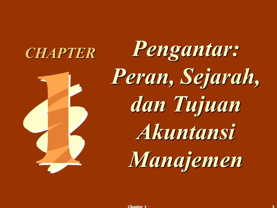 Pengantar: Peran, Sejarah, dan Tujuan Akuntansi Manajemen