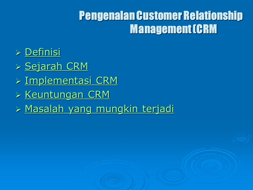 Pengenalan Customer Relationship Management (CRM