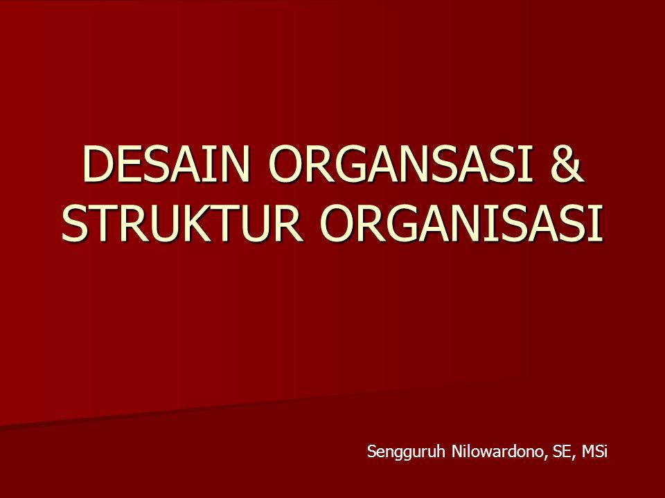 DESAIN ORGANSASI & STRUKTUR ORGANISASI