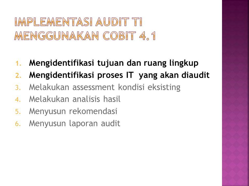 Implementasi Audit TI Menggunakan COBIT 4.1