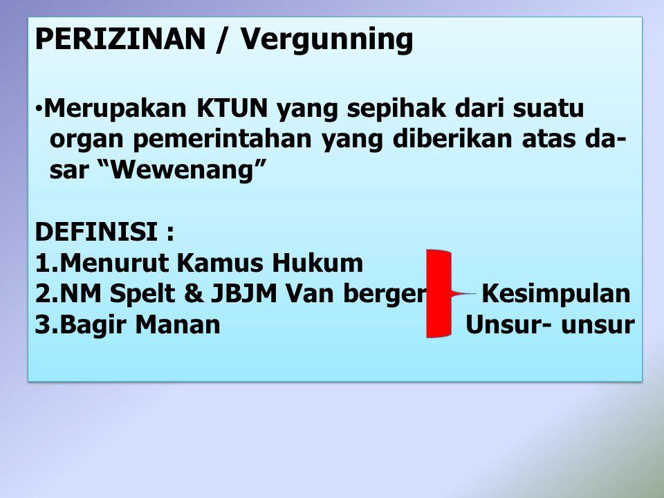 PERIZINAN / Vergunning