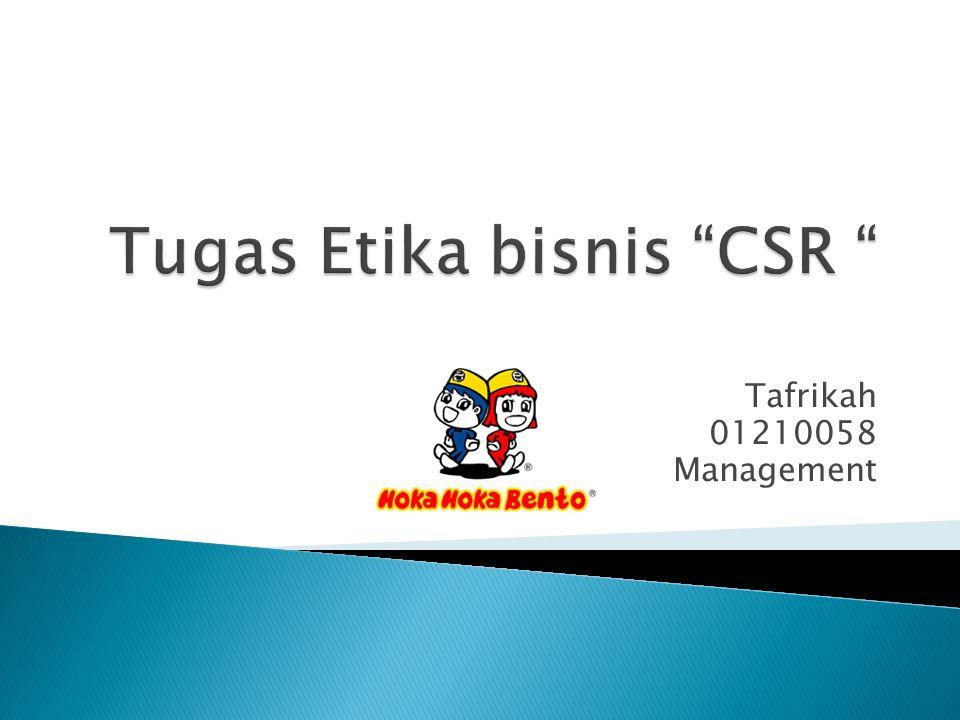 Tugas Etika bisnis CSR