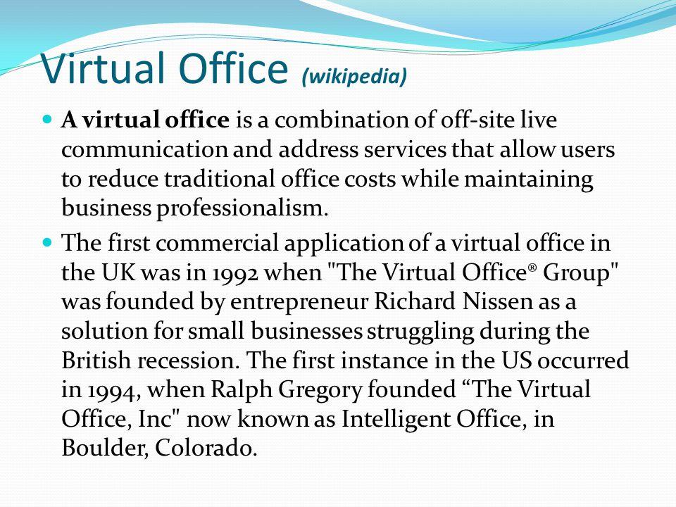 Virtual Office (wikipedia)